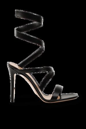 Opera 120 Sandals in Black GIANVITO ROSSI