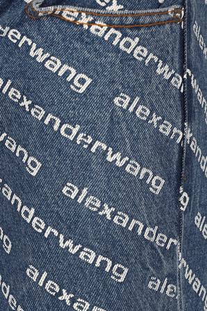 High Rise Logo Jeans in Blue ALEXANDER WANG