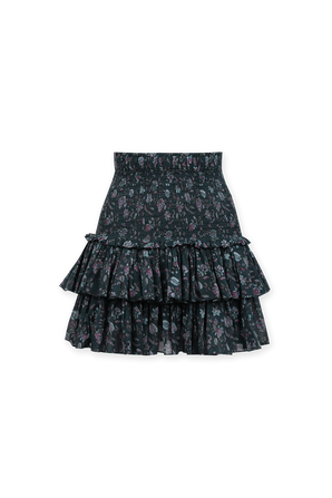 Naomi Flower Print Mini Skirt in Pink and Blue ISABEL MARANT