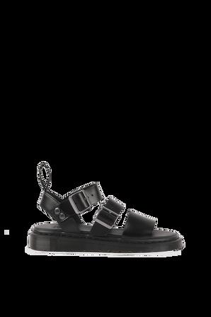 Gryphon Leather Sandals in Black DR.MARTENS