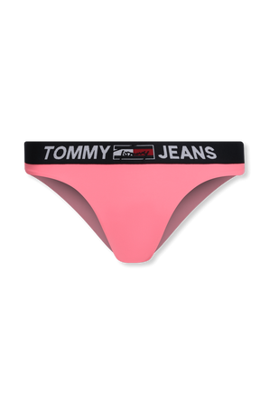 Logo Waistband Brazilian Bikini Bottoms in Pink TOMMY HILFIGER