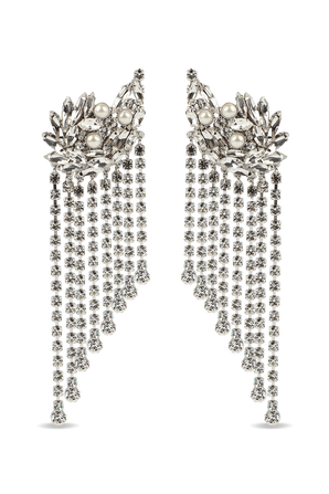 Crystal Cascade Clip Earrings ALESSANDRA RICH