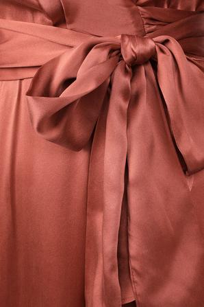 Wrap Silk Midi Dress in Pink ZIMMERMANN