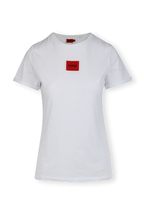 Slim Fit Logo T-Shirt In White HUGO
