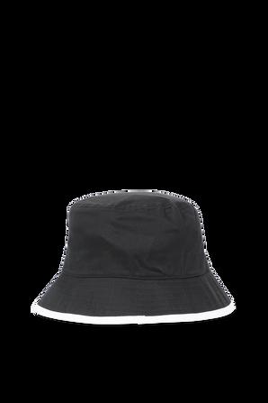 Cotton Twill Bucket Hat in Black CALVIN KLEIN