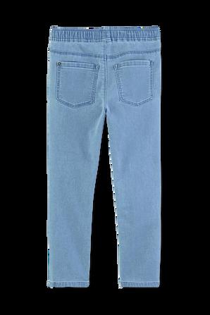 גילאי 6-12 מכנסי ג'ינס רכים בשטיפה בהירה PETIT BATEAU