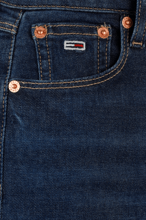Sylvia Ultra High Rise Super Skinny Jeans in Blue TOMMY HILFIGER
