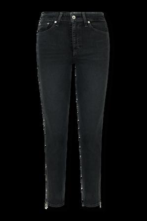 Nina High Rise Ankle Cigarette Jeans in Dark Grey RAG & BONE