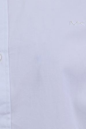 Cotton Long Sleeve Shirt in White MICHAEL KORS