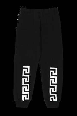 גילאי 4-6 מכנסי טרנינג שחורים VERSACE KIDS