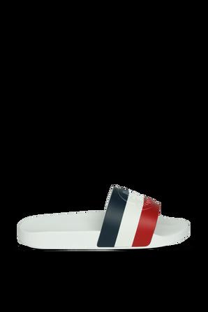 Basile Slides in White MONCLER