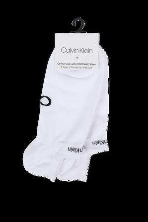 Logo Shoe Liners Socks in White CALVIN KLEIN