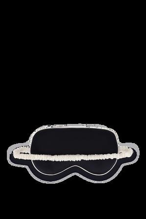 Silk Eye Mask Navy Ivory OLIVIA VON HALLE