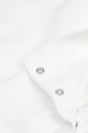 גילאי 2-24 חולצה ארוכה בצבע לבן עם צווארון גבוה MONCLER KIDS