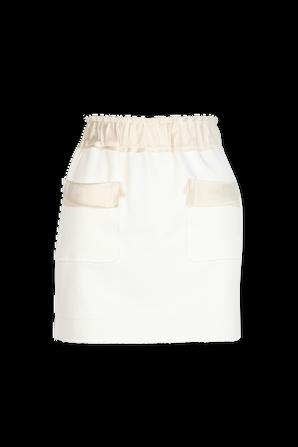 Organic Cotton Mini Skirt in White AZ FACTORY