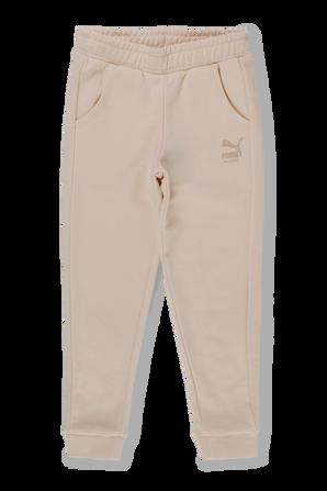 גליאי 2-14 מכנסי גוג בטקסטורת פיקה בגוון בז PUMA KIDS