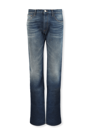 The Penthouse Straight Leg Jeans in Bluw Wash THE ATTICO