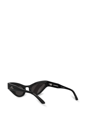 Cat Oval Logo Sunglasses in Black BALENCIAGA
