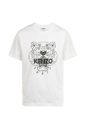 Tiger T-Shirt in White KENZO
