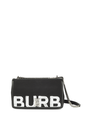 Lola Medium Logo Print Cotton Bag BURBERRY