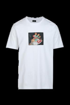 Graphic Print T-Shirt in White DIESEL
