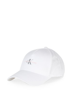 Monogram Hardware Cap In White CALVIN KLEIN