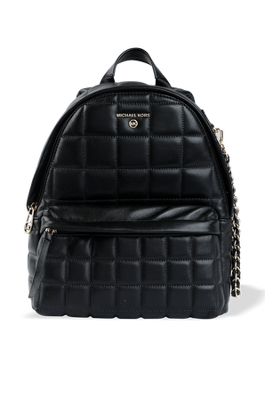 Slater MD Quilted Leather Backpack in Black MICHAEL KORS