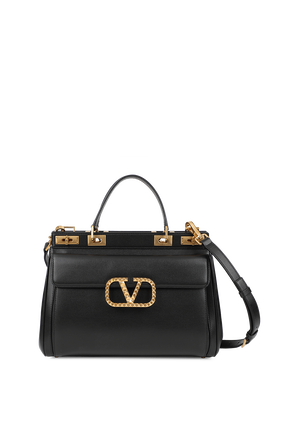 Large Double Handle Bag in Black VALENTINO GARAVANI