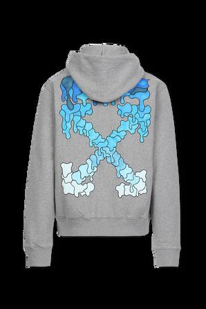 Blue Marker Slim Hoodie in Grey OFF WHITE