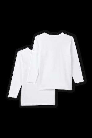 גילאי 3-8 מארז שתי חולצות טי ארוכות בגוון לבן PETIT BATEAU