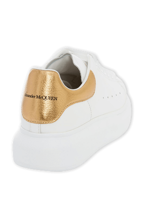 Oversized Sneaker in White and Gold ALEXANDER MCQUEEN