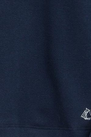 גילאי 4-5 חולצה ארוכה עם צווארון גבוה בכחול PETIT BATEAU