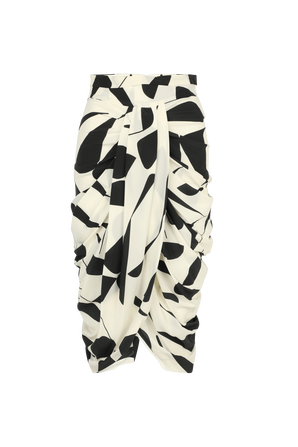 Betina Knotted Midi Skirt In Black And White ISABEL MARANT