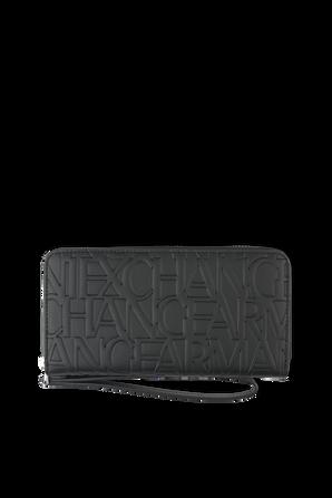 Logomania Wallet in Black ARMANI EXCHANGE