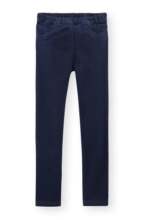 גילאי 2-10 מכנסי ג'ינס רכים בשטיפה כהה PETIT BATEAU