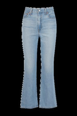 מכנסי ג'ינס מאט' קלאב מתרחבים בגוון אינדיגו בהיר LEVI`S