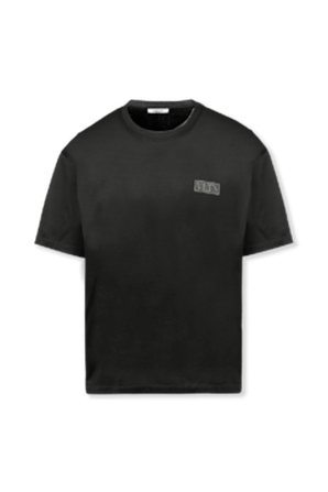 T-Shirt With Logo Tag in Black VALENTINO