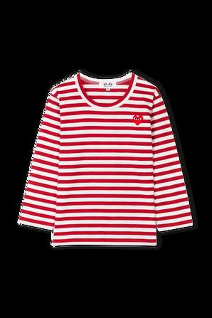 גילאי 2-6 חולצת פסים באדום ולבן COMME des GARCONS KIDS