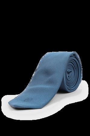 Textured Classic Silk Tie in Blue BOSS
