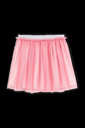 גילאי 3-5 חצאית רב שכבתית בגוון ורוד מנצנץ PETIT BATEAU