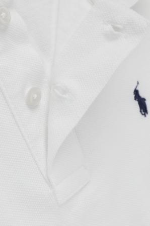 גילאי 5-7 חולצת פולו קלאסית בלבן עם רקמת לוגו POLO RALPH LAUREN KIDS