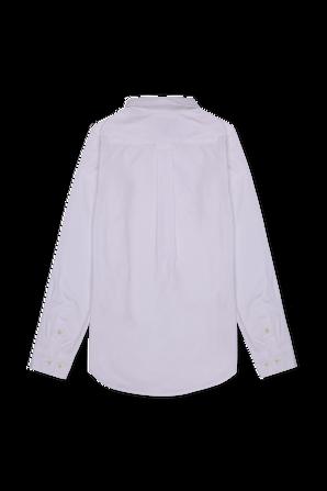 גילאי 8-18 חולצת פולו לבנה מכופתרת קלאסית POLO RALPH LAUREN KIDS