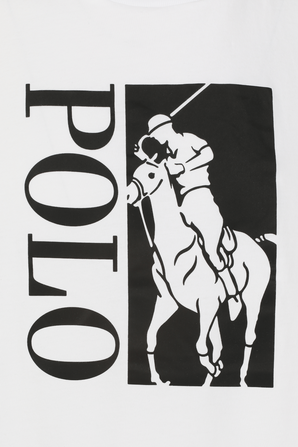 Classic Fit Big Pony Logo T-Shirt in White POLO RALPH LAUREN