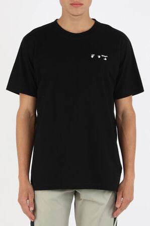 חולצת טי עם לוגו בצבע שחור OFF WHITE
