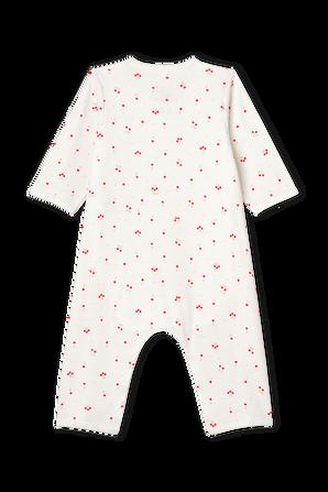 גילאי 1-12 חודשים אוברול שינה בהדפס דובדבנים PETIT BATEAU