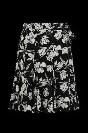 Floral Mini Skirt in Black POLO RALPH LAUREN