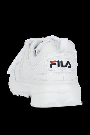 Disruptor II in White FILA