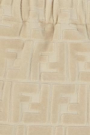 גילאי 1-12 חודשים מכנסיים ארוכים עם טקטסטורת לוגו בשמנת FENDI KIDS