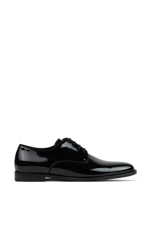 Positano Lace-Ups Oxford Shoes In Black Patent Leather DOLCE & GABBANA