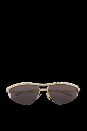 Sunglasses With a Gold Frame BOTTEGA VENETA
